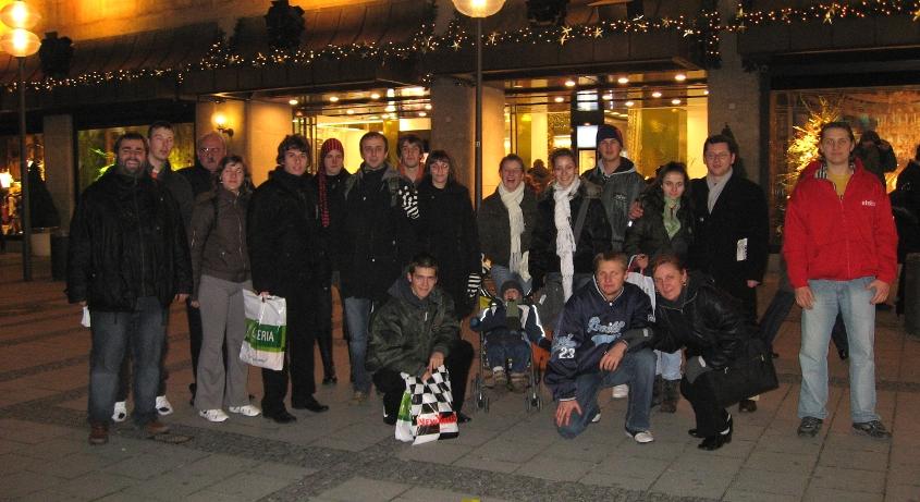 Schüllergruppe aus dem Kosovo in München